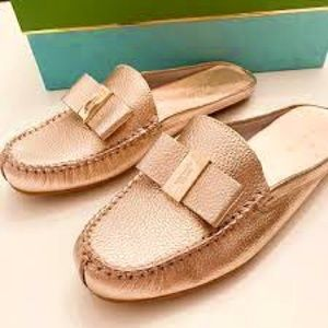 Kate Spade gold mule shoe